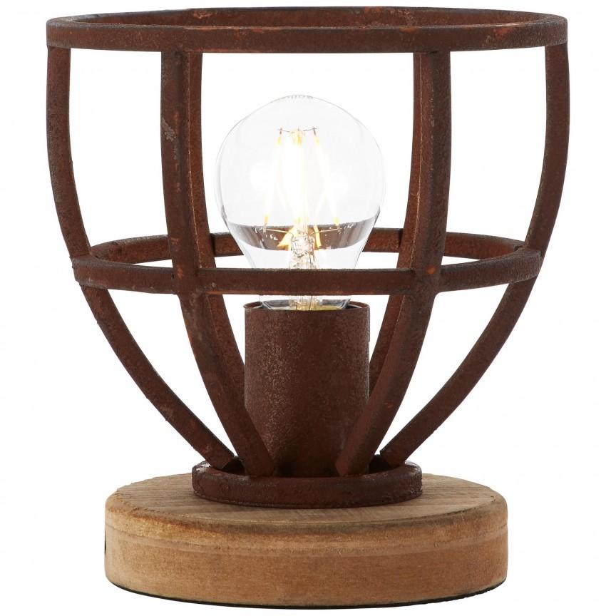 Veioza / Lampa de masa stil industrial Matrix ruginie 92610/55 BL, Veioze, Corpuri de iluminat, lustre, aplice, veioze, lampadare, plafoniere. Mobilier si decoratiuni, oglinzi, scaune, fotolii. Oferte speciale iluminat interior si exterior. Livram in toata tara.  a