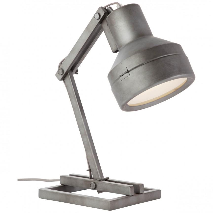 Veioza / Lampa de masa reglabila industrial style Hardwork 99037/84 BL, NOU ! Lustre VINTAGE, RETRO, INDUSTRIA Style, Corpuri de iluminat, lustre, aplice, veioze, lampadare, plafoniere. Mobilier si decoratiuni, oglinzi, scaune, fotolii. Oferte speciale iluminat interior si exterior. Livram in toata tara.  a