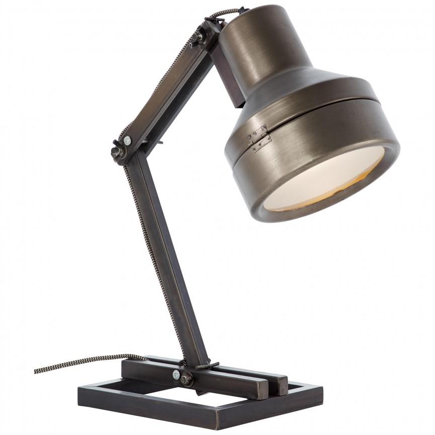 Veioza / Lampa de masa reglabila industrial style Hardwork 99037/46 BL, NOU ! Lustre VINTAGE, RETRO, INDUSTRIA Style, Corpuri de iluminat, lustre, aplice, veioze, lampadare, plafoniere. Mobilier si decoratiuni, oglinzi, scaune, fotolii. Oferte speciale iluminat interior si exterior. Livram in toata tara.  a