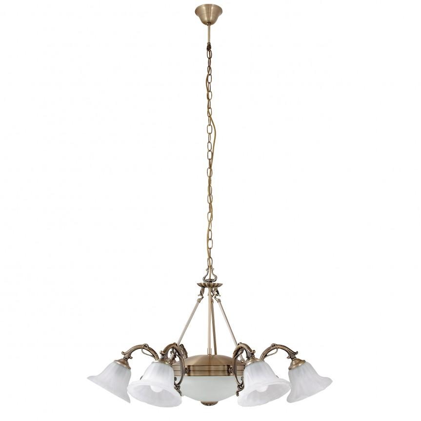 Candelabru cu 6 brate design clasic Orchidea 8556 RX, Candelabre, Pendule clasice, Corpuri de iluminat, lustre, aplice, veioze, lampadare, plafoniere. Mobilier si decoratiuni, oglinzi, scaune, fotolii. Oferte speciale iluminat interior si exterior. Livram in toata tara.  a