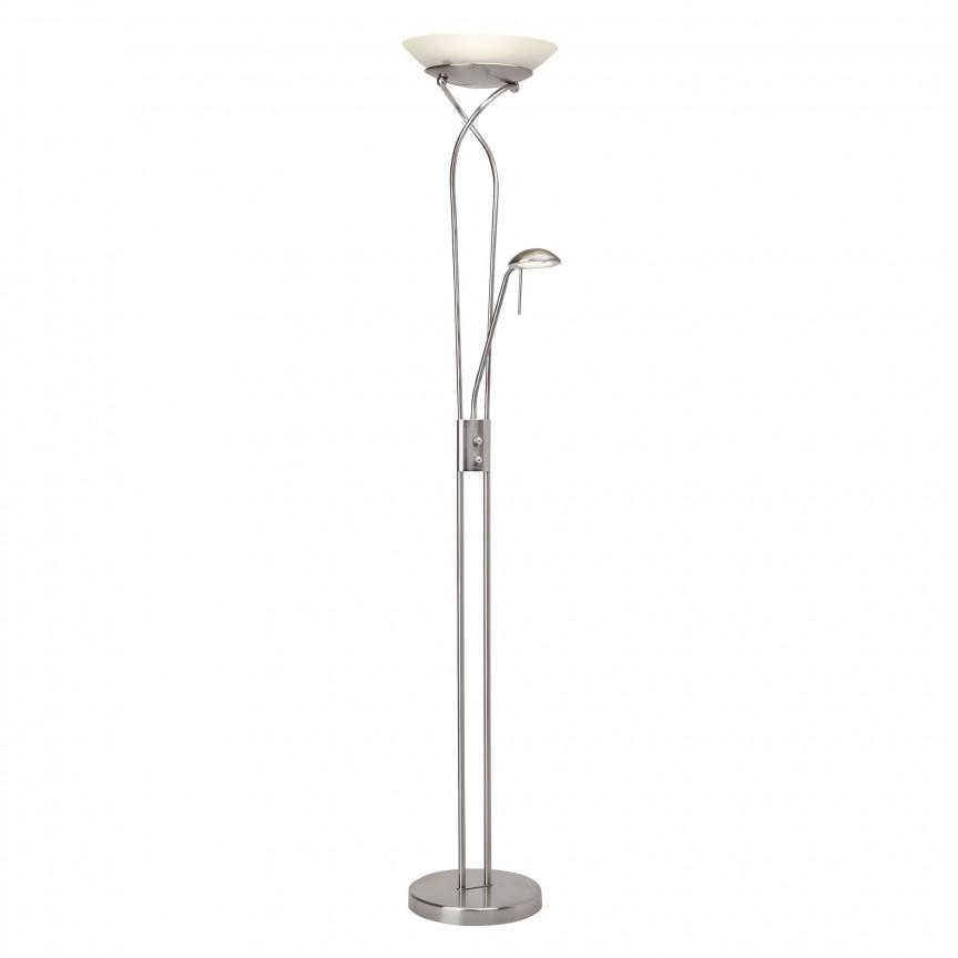 Lampadar LED reglabil stil clasic Ollie nickel satin G93036/13 BL , Veioze LED, Lampadare LED, Corpuri de iluminat, lustre, aplice, veioze, lampadare, plafoniere. Mobilier si decoratiuni, oglinzi, scaune, fotolii. Oferte speciale iluminat interior si exterior. Livram in toata tara.  a