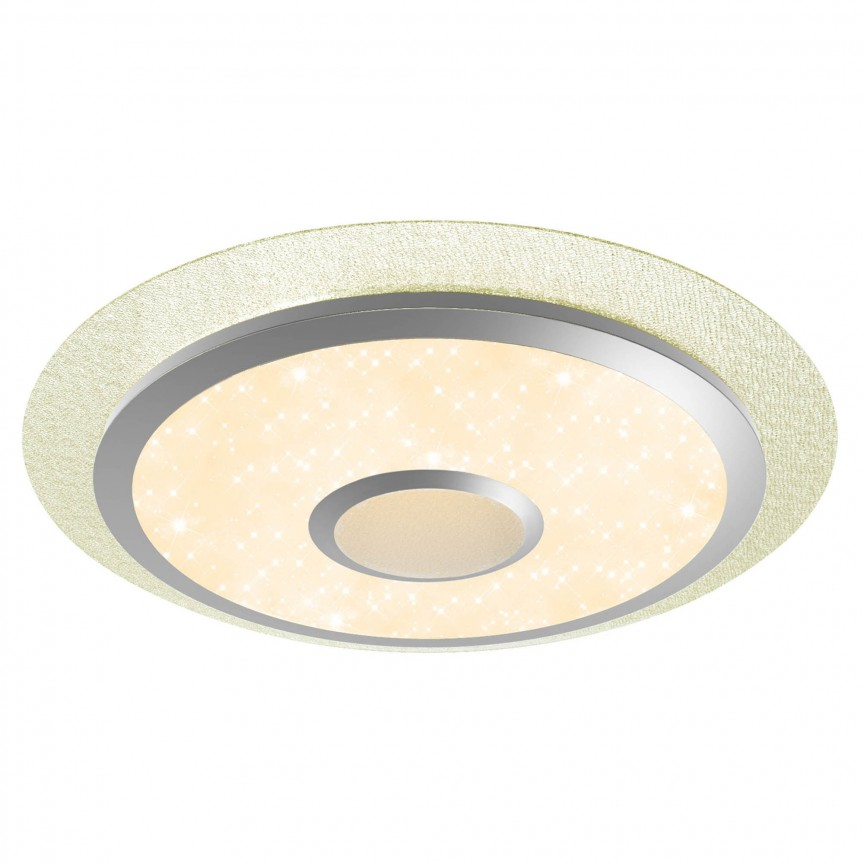 Plafoniera LED RGB dimabila cu telecomanda Ronny 56cm HK17503S05 BL, Lampi LED si Telecomanda, Corpuri de iluminat, lustre, aplice, veioze, lampadare, plafoniere. Mobilier si decoratiuni, oglinzi, scaune, fotolii. Oferte speciale iluminat interior si exterior. Livram in toata tara.  a