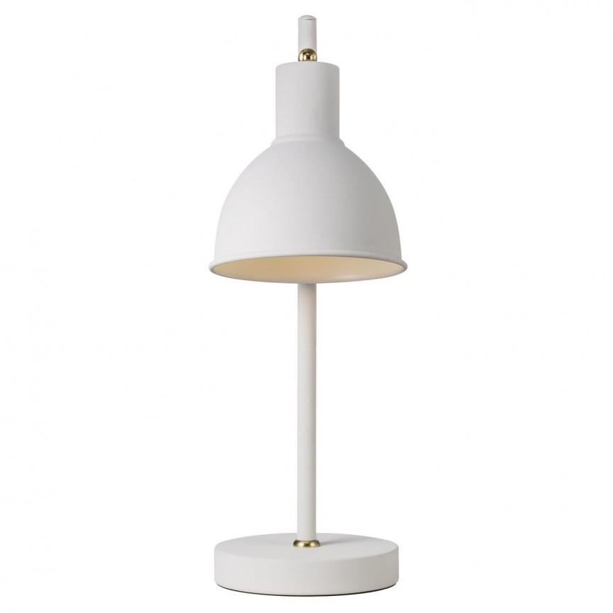 Veioza moderna design minimalist Pop Rough, alb/ alama 48745001 NL, Veioze de Birou moderne, Corpuri de iluminat, lustre, aplice, veioze, lampadare, plafoniere. Mobilier si decoratiuni, oglinzi, scaune, fotolii. Oferte speciale iluminat interior si exterior. Livram in toata tara.  a
