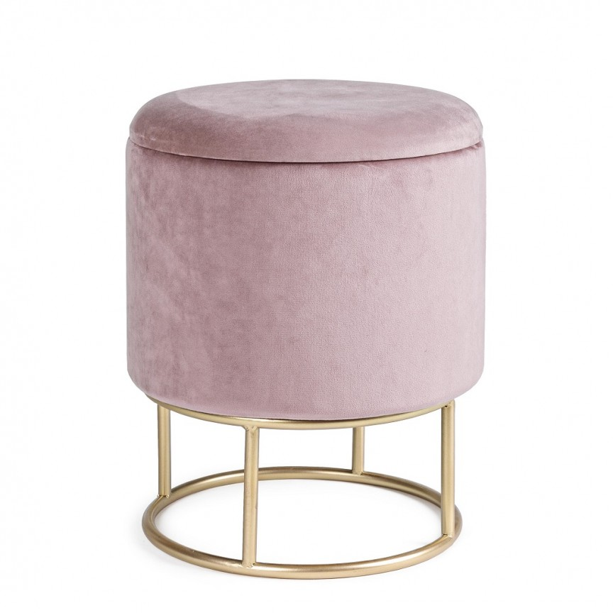 Taburete design elegant POLINA roz diam.34,5cm 0720332 BZ, Tabureti - Banci, Corpuri de iluminat, lustre, aplice, veioze, lampadare, plafoniere. Mobilier si decoratiuni, oglinzi, scaune, fotolii. Oferte speciale iluminat interior si exterior. Livram in toata tara.  a