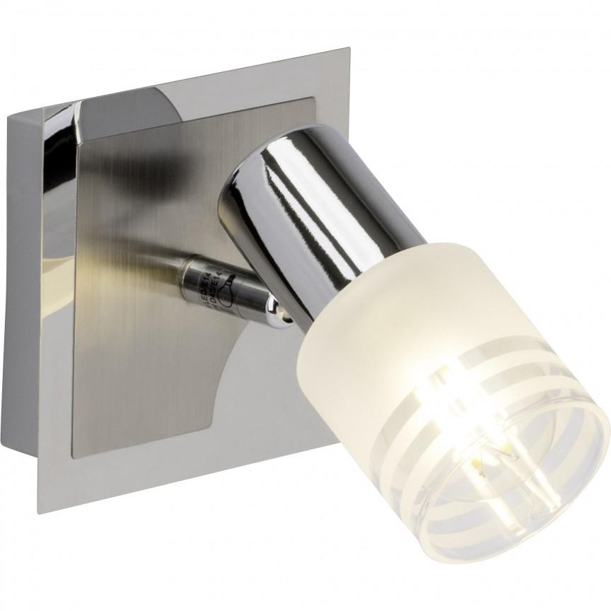 Aplica LED moderna directionabila Lea G32410/77 BL, Spoturi - iluminat - cu 1 spot, Corpuri de iluminat, lustre, aplice, veioze, lampadare, plafoniere. Mobilier si decoratiuni, oglinzi, scaune, fotolii. Oferte speciale iluminat interior si exterior. Livram in toata tara.  a