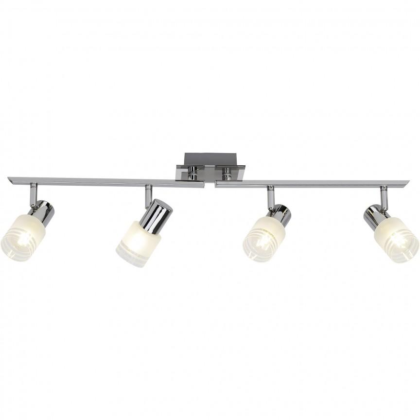 Plafoniera LED moderna directionabila Lea 4L G32432/77 BL, Spoturi - iluminat - cu 4 spoturi, Corpuri de iluminat, lustre, aplice, veioze, lampadare, plafoniere. Mobilier si decoratiuni, oglinzi, scaune, fotolii. Oferte speciale iluminat interior si exterior. Livram in toata tara.  a