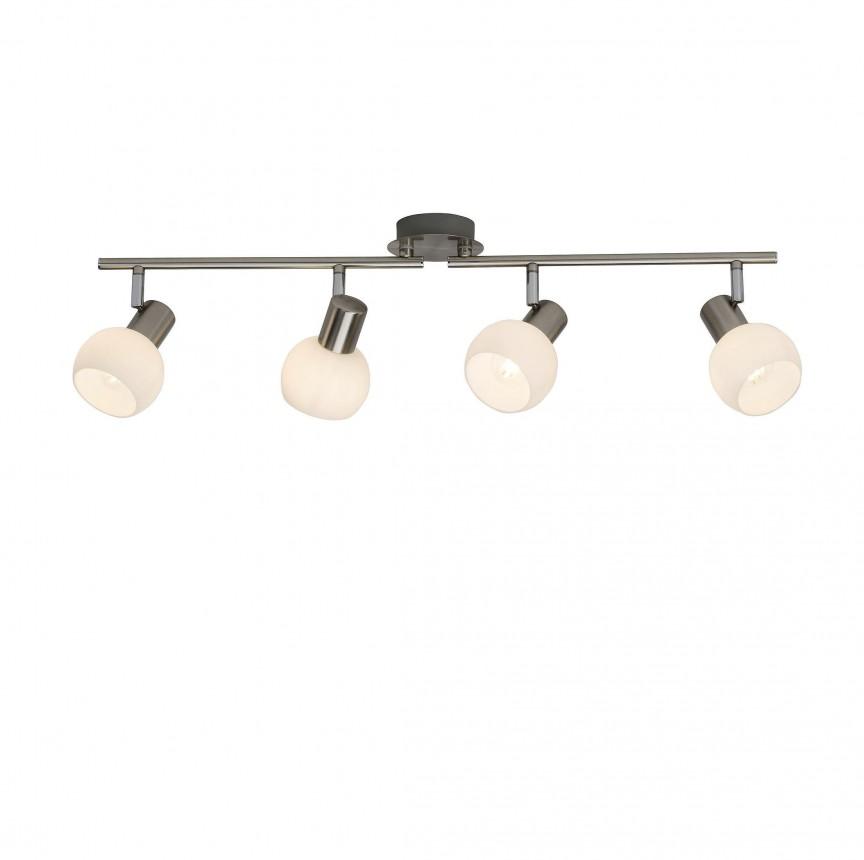 Plafoniera LED moderna directionabila Philo 4L G16332/13 BL, Spoturi - iluminat - cu 4 spoturi, Corpuri de iluminat, lustre, aplice, veioze, lampadare, plafoniere. Mobilier si decoratiuni, oglinzi, scaune, fotolii. Oferte speciale iluminat interior si exterior. Livram in toata tara.  a