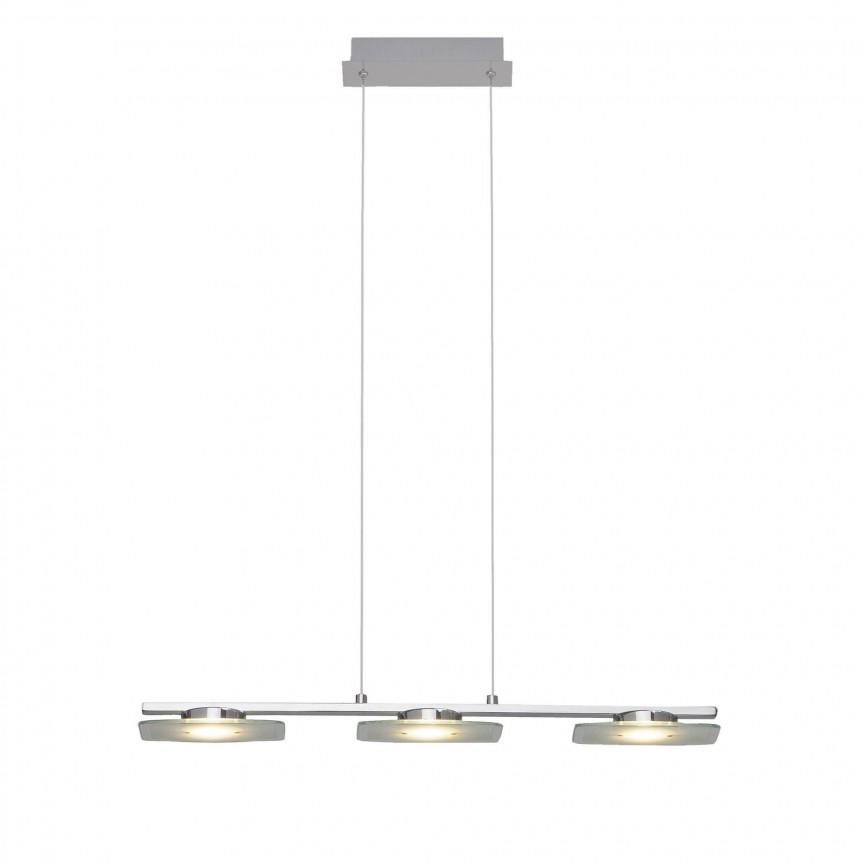 Lustra LED suspendata design modern Arlena 3L G93434/15 BL, Lustre LED, Pendule LED, Corpuri de iluminat, lustre, aplice, veioze, lampadare, plafoniere. Mobilier si decoratiuni, oglinzi, scaune, fotolii. Oferte speciale iluminat interior si exterior. Livram in toata tara.  a
