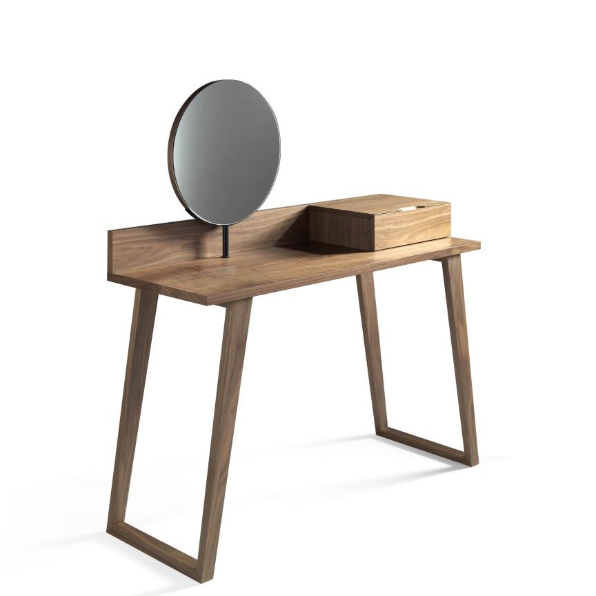 Masa machiaj eleganta, design modern Walnut AC-CP1702-DK, Cele mai noi produse 2019 a