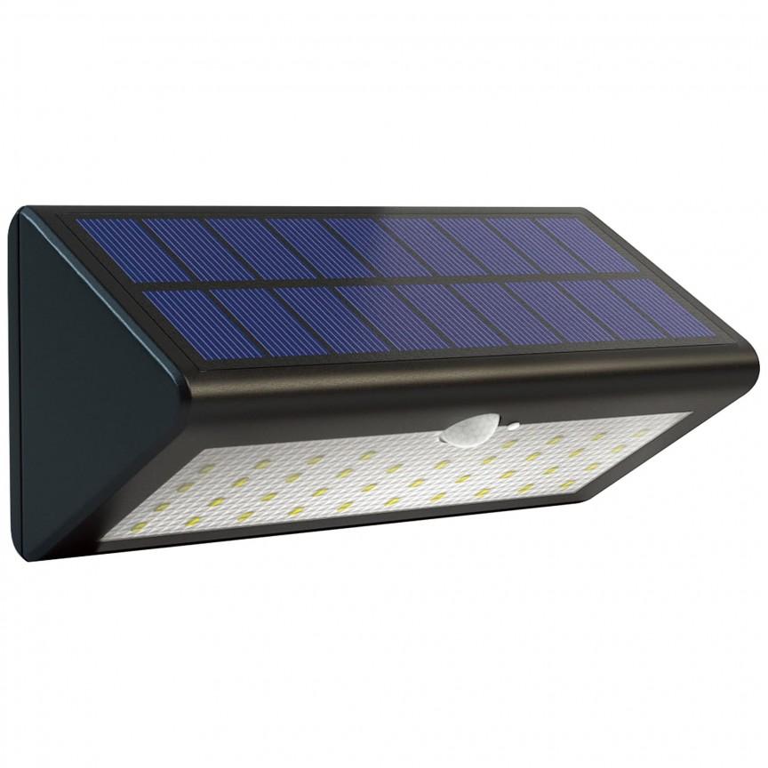 Aplica LED exterior solara cu senzor de miscare IP44 Arc