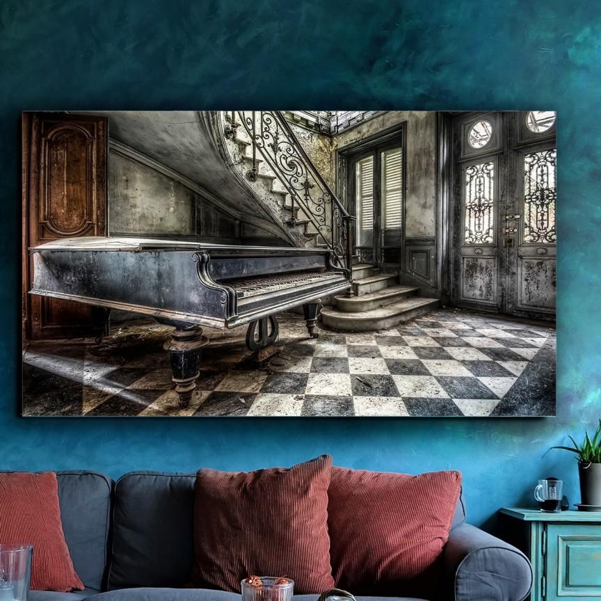 Tablou decorativ Melancolia, 140x80cm SV-960243, Tablouri decorative, Corpuri de iluminat, lustre, aplice, veioze, lampadare, plafoniere. Mobilier si decoratiuni, oglinzi, scaune, fotolii. Oferte speciale iluminat interior si exterior. Livram in toata tara.  a