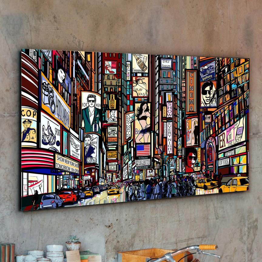 Tablou decorativ Comic, 130x80cm SV-899925, Tablouri decorative, Corpuri de iluminat, lustre, aplice, veioze, lampadare, plafoniere. Mobilier si decoratiuni, oglinzi, scaune, fotolii. Oferte speciale iluminat interior si exterior. Livram in toata tara.  a