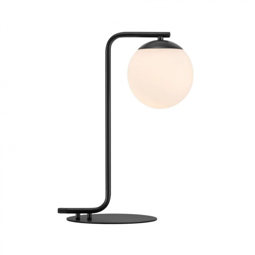 Lampa de masa design nordic Grant, negru 46635003 NL, Veioze, Lampi de masa, Corpuri de iluminat, lustre, aplice, veioze, lampadare, plafoniere. Mobilier si decoratiuni, oglinzi, scaune, fotolii. Oferte speciale iluminat interior si exterior. Livram in toata tara.  a