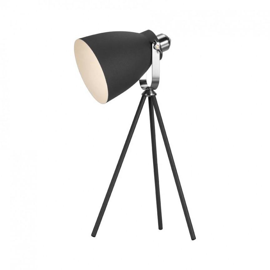 Lampa de masa design minimalist, nordic Largo, negru 46655003 NL, Veioze, Lampi de masa, Corpuri de iluminat, lustre, aplice, veioze, lampadare, plafoniere. Mobilier si decoratiuni, oglinzi, scaune, fotolii. Oferte speciale iluminat interior si exterior. Livram in toata tara.  a