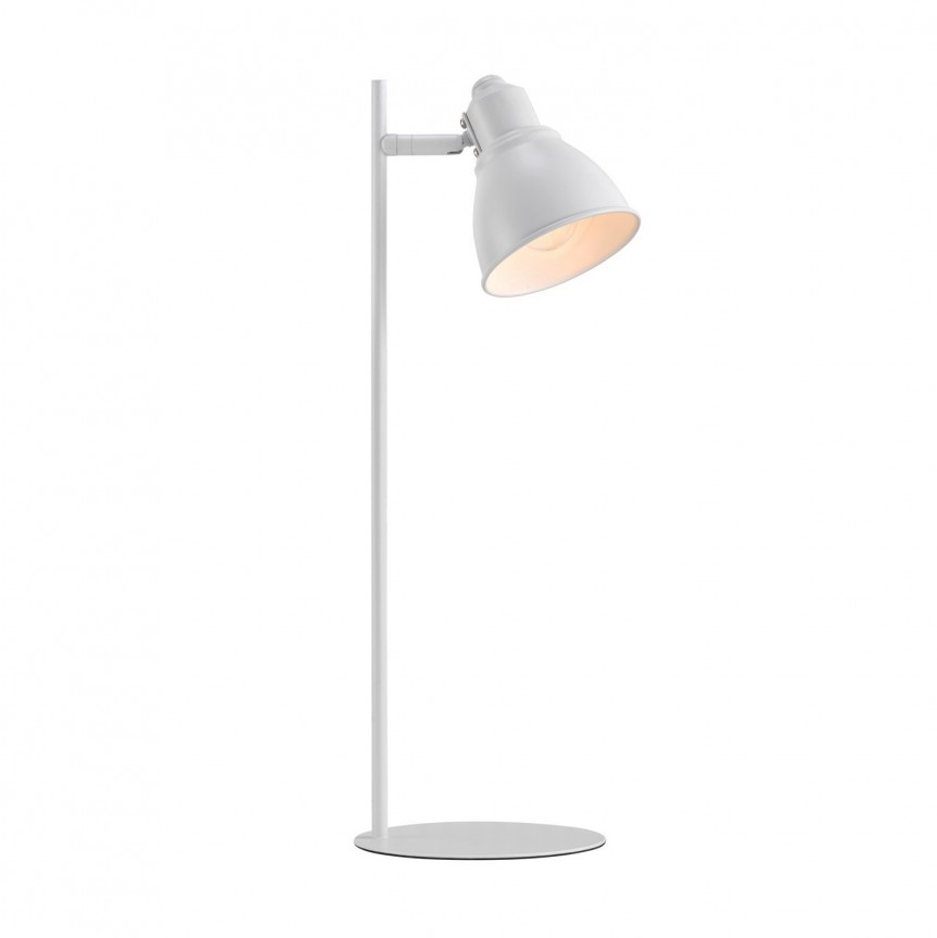 Veioza moderna design minimalist nordic Mercer alba 46665001 NL, Veioze de Birou moderne, Corpuri de iluminat, lustre, aplice, veioze, lampadare, plafoniere. Mobilier si decoratiuni, oglinzi, scaune, fotolii. Oferte speciale iluminat interior si exterior. Livram in toata tara.  a