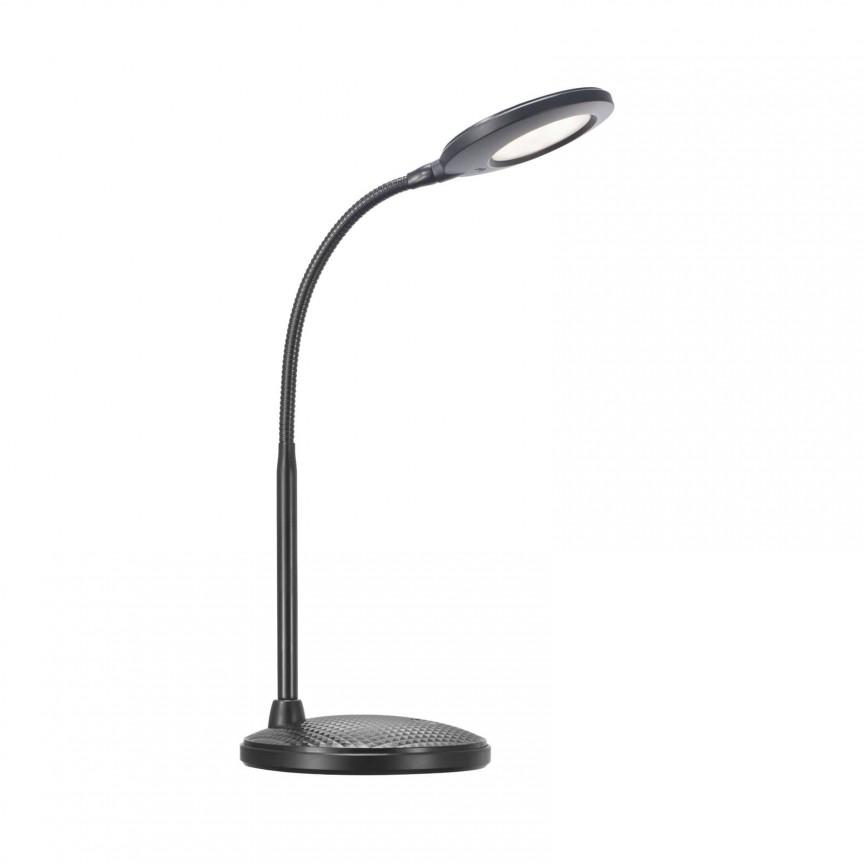 Veioza / Lampa LED de birou cu brat flexibil Dove 84593103 NL, Veioze LED, Lampadare LED, Corpuri de iluminat, lustre, aplice, veioze, lampadare, plafoniere. Mobilier si decoratiuni, oglinzi, scaune, fotolii. Oferte speciale iluminat interior si exterior. Livram in toata tara.  a