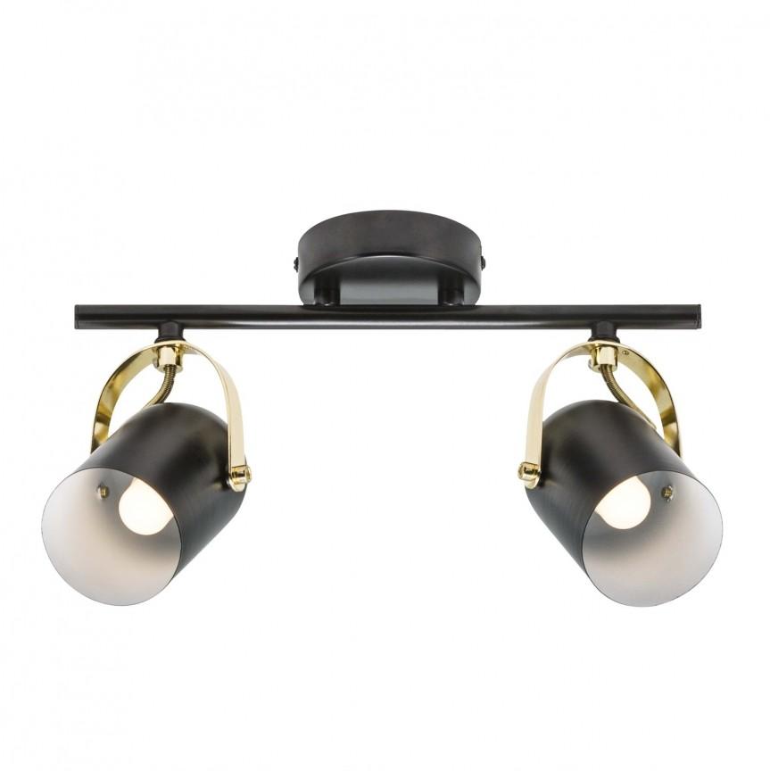 Aplica perete / tavan directionabila design nordic Lotus 50110103 NL, Spoturi - iluminat - cu 2 spoturi, Corpuri de iluminat, lustre, aplice, veioze, lampadare, plafoniere. Mobilier si decoratiuni, oglinzi, scaune, fotolii. Oferte speciale iluminat interior si exterior. Livram in toata tara.  a