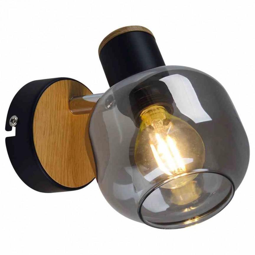 Aplica de perete design modern Smoke 1350022 NV, Spoturi - iluminat - cu 1 spot, Corpuri de iluminat, lustre, aplice, veioze, lampadare, plafoniere. Mobilier si decoratiuni, oglinzi, scaune, fotolii. Oferte speciale iluminat interior si exterior. Livram in toata tara.  a