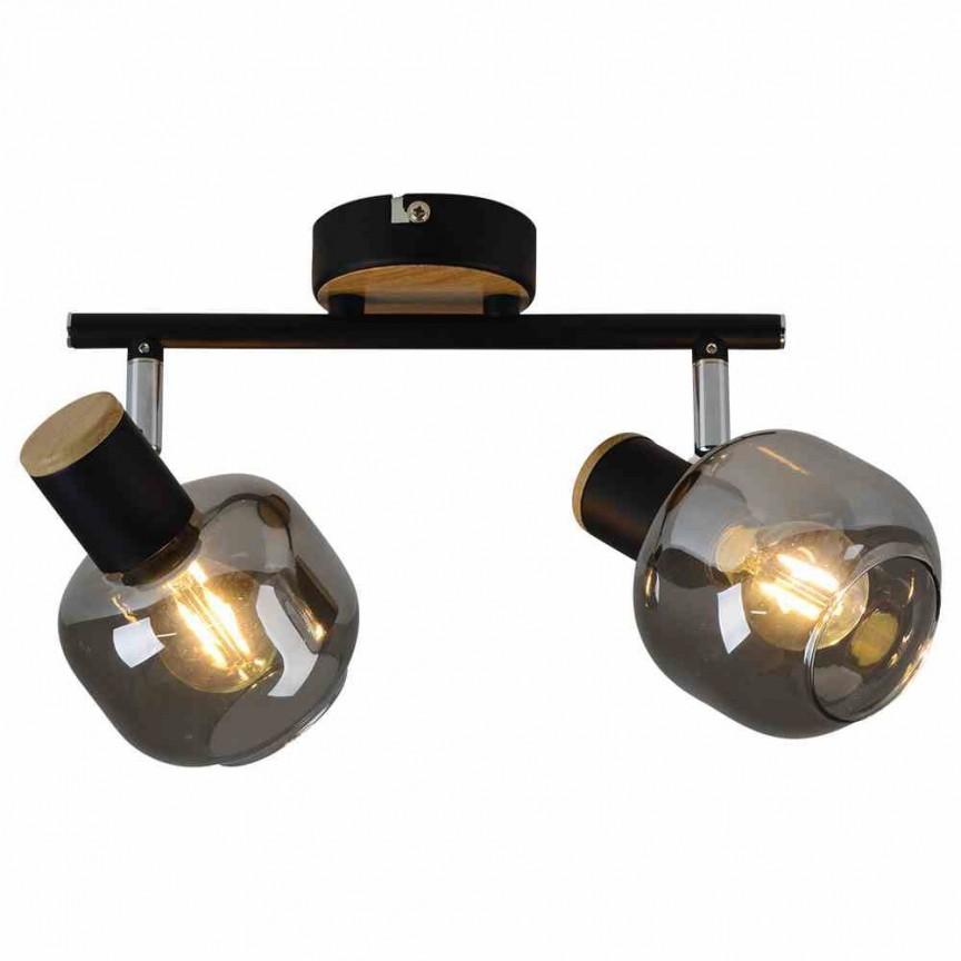 Aplica de perete sau tavan design modern Smoke 2L 1350122 NV, Spoturi - iluminat - cu 2 spoturi, Corpuri de iluminat, lustre, aplice, veioze, lampadare, plafoniere. Mobilier si decoratiuni, oglinzi, scaune, fotolii. Oferte speciale iluminat interior si exterior. Livram in toata tara.  a
