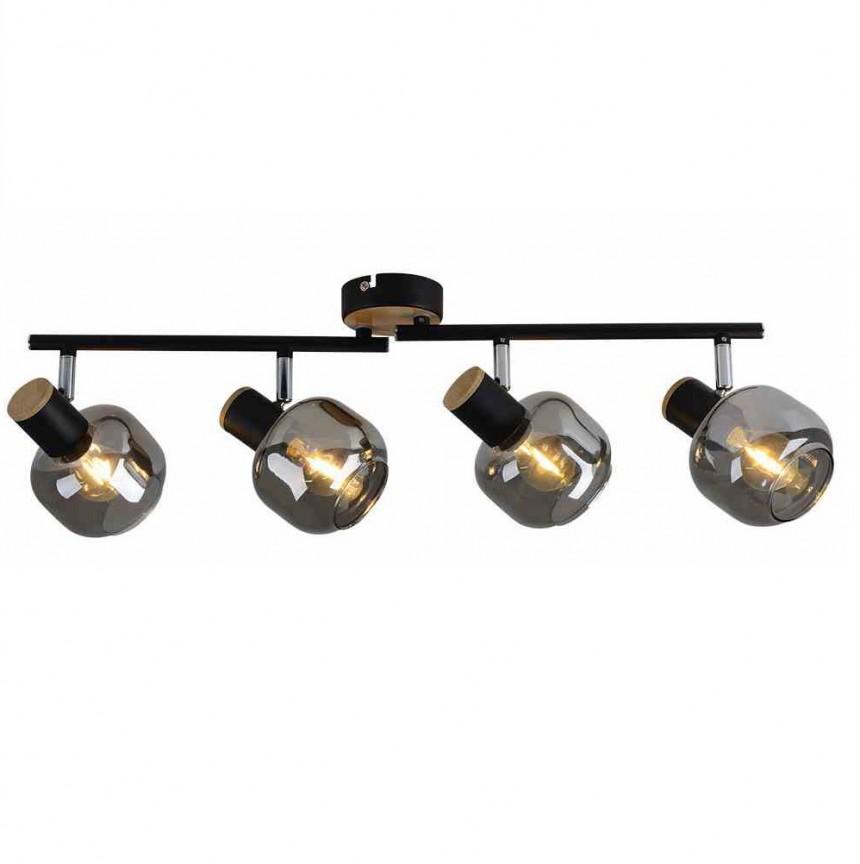 Aplica de perete sau tavan design modern Smoke 4L 1350222 NV, Spoturi - iluminat - cu 4 spoturi, Corpuri de iluminat, lustre, aplice, veioze, lampadare, plafoniere. Mobilier si decoratiuni, oglinzi, scaune, fotolii. Oferte speciale iluminat interior si exterior. Livram in toata tara.  a