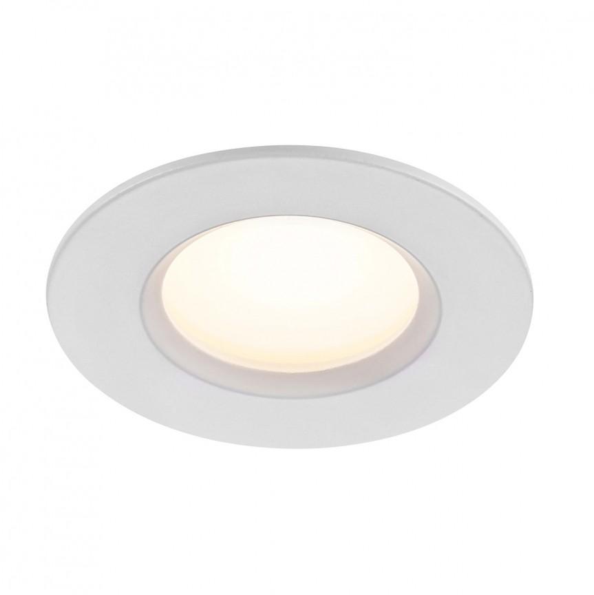 Spot LED incastrabil pentru baie IP65 Tiaki alb 2700K / 4000K MOODMAKER, Plafoniere cu protectie pentru baie, Corpuri de iluminat, lustre, aplice, veioze, lampadare, plafoniere. Mobilier si decoratiuni, oglinzi, scaune, fotolii. Oferte speciale iluminat interior si exterior. Livram in toata tara.  a