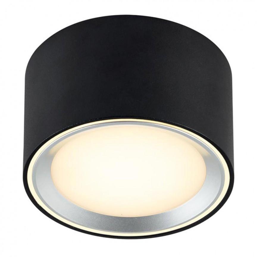 Spot LED aplicat Fallon negru 4-Step MOODMAKER 47540103 NL, Spoturi aplicate - tavan / perete, Corpuri de iluminat, lustre, aplice, veioze, lampadare, plafoniere. Mobilier si decoratiuni, oglinzi, scaune, fotolii. Oferte speciale iluminat interior si exterior. Livram in toata tara.  a