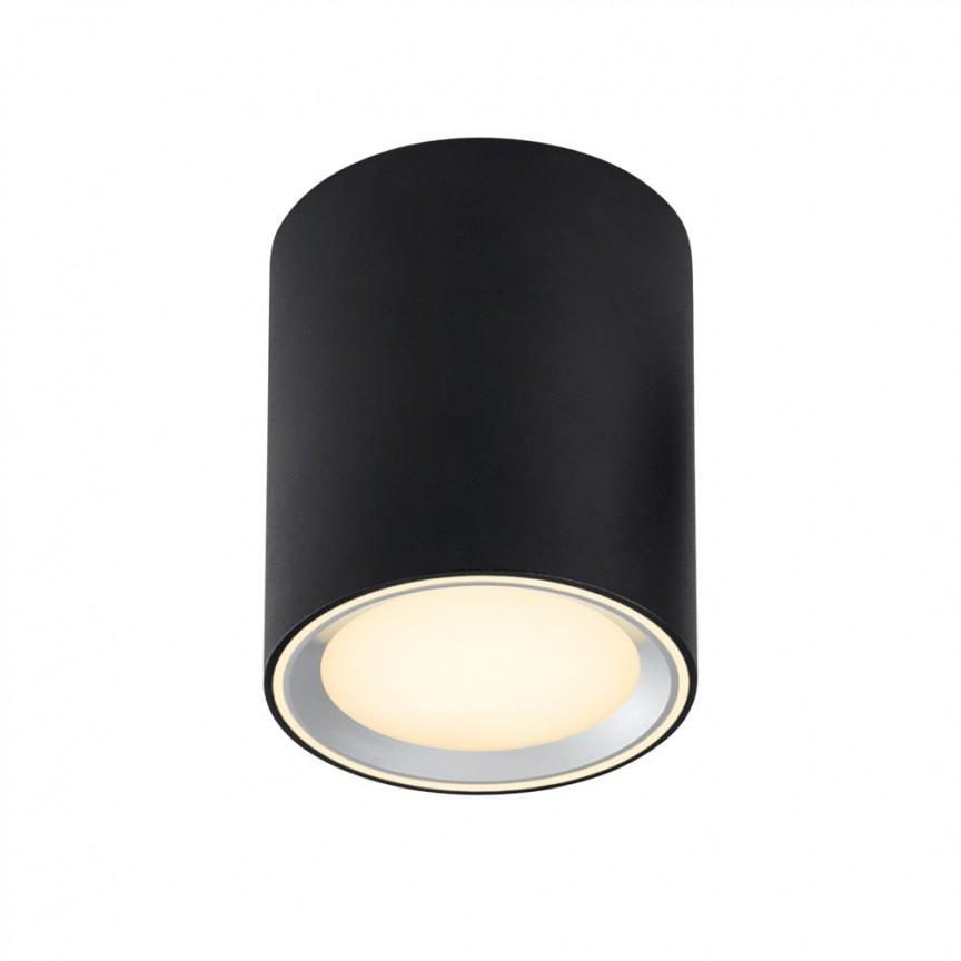 Spot LED aplicat Fallon long negru 4-Step MOODMAKER, Spoturi aplicate - tavan / perete, Corpuri de iluminat, lustre, aplice, veioze, lampadare, plafoniere. Mobilier si decoratiuni, oglinzi, scaune, fotolii. Oferte speciale iluminat interior si exterior. Livram in toata tara.  a