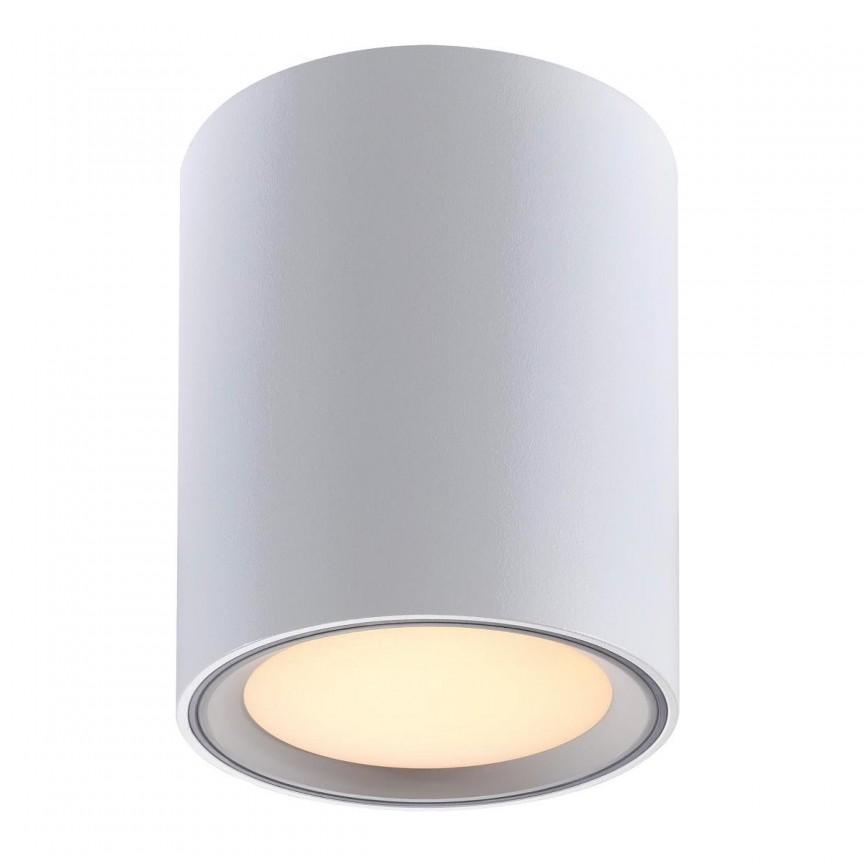 Spot LED aplicat Fallon long alb/otel 4-Step MOODMAKER, Spoturi aplicate - tavan / perete, Corpuri de iluminat, lustre, aplice, veioze, lampadare, plafoniere. Mobilier si decoratiuni, oglinzi, scaune, fotolii. Oferte speciale iluminat interior si exterior. Livram in toata tara.  a