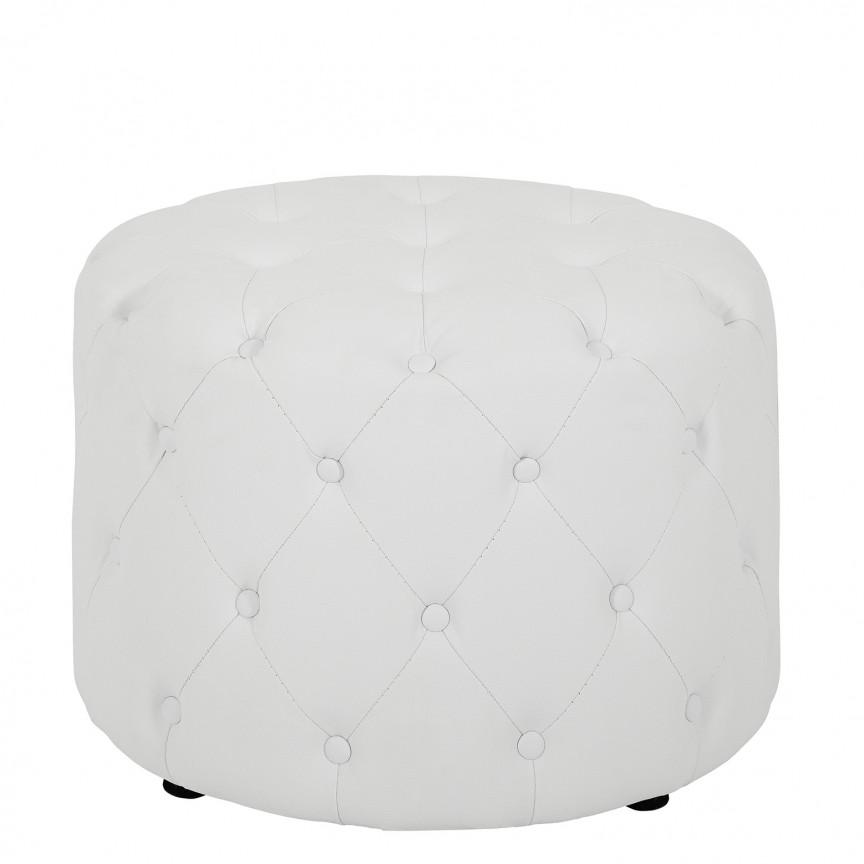 Taburete Chesterfield alb, 60cm A-39426 VC, Tabureti - Banci, Corpuri de iluminat, lustre, aplice, veioze, lampadare, plafoniere. Mobilier si decoratiuni, oglinzi, scaune, fotolii. Oferte speciale iluminat interior si exterior. Livram in toata tara.  a