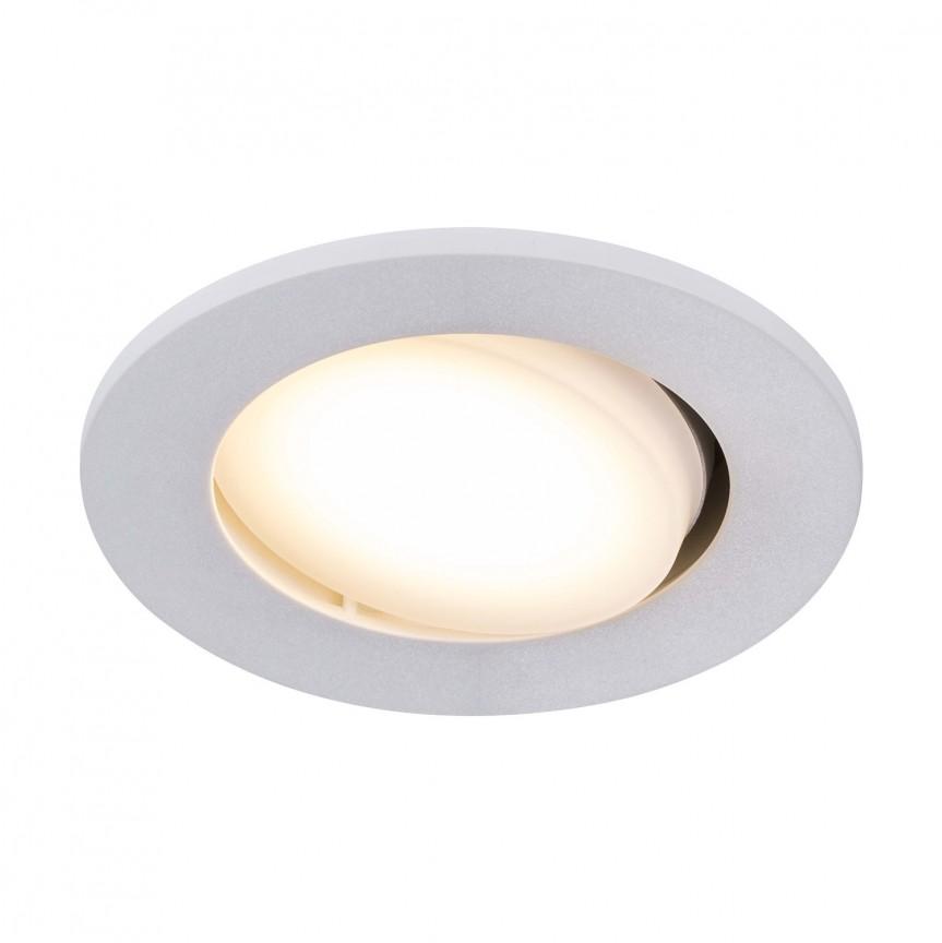 Set de 5 spoturi LED incastrabile pentru baie IP65 Leonis alb 2700K 49180101 NL, Plafoniere cu protectie pentru baie, Corpuri de iluminat, lustre, aplice, veioze, lampadare, plafoniere. Mobilier si decoratiuni, oglinzi, scaune, fotolii. Oferte speciale iluminat interior si exterior. Livram in toata tara.  a