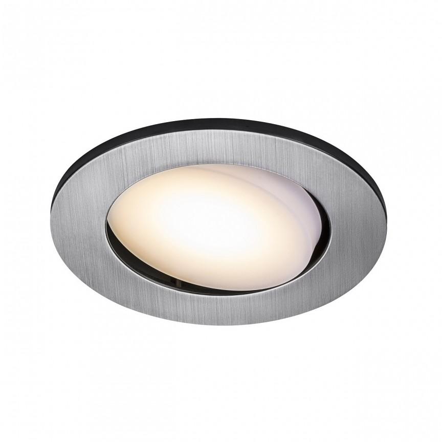 Set de 5 spoturi LED incastrabile pentru baie IP65 Leonis nickel 2700K 49180155 NL, Plafoniere cu protectie pentru baie, Corpuri de iluminat, lustre, aplice, veioze, lampadare, plafoniere. Mobilier si decoratiuni, oglinzi, scaune, fotolii. Oferte speciale iluminat interior si exterior. Livram in toata tara.  a
