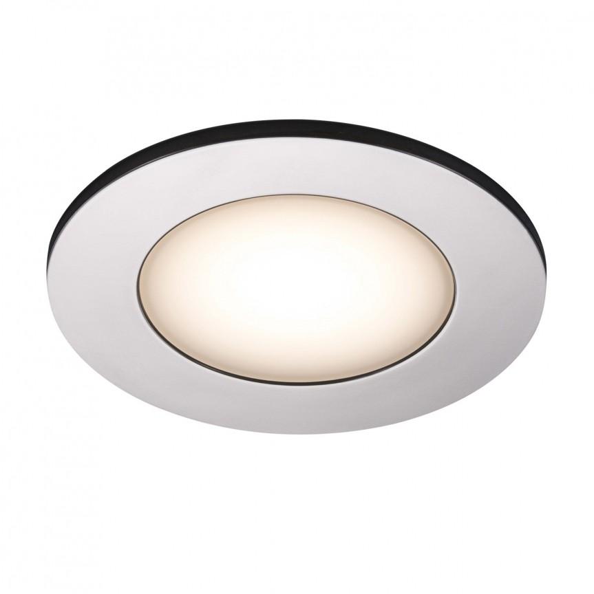 Set de 3 spoturi LED incastrabile pentru baie IP65 Leonis crom 2700K 49160133 NL, Plafoniere cu protectie pentru baie, Corpuri de iluminat, lustre, aplice, veioze, lampadare, plafoniere. Mobilier si decoratiuni, oglinzi, scaune, fotolii. Oferte speciale iluminat interior si exterior. Livram in toata tara.  a