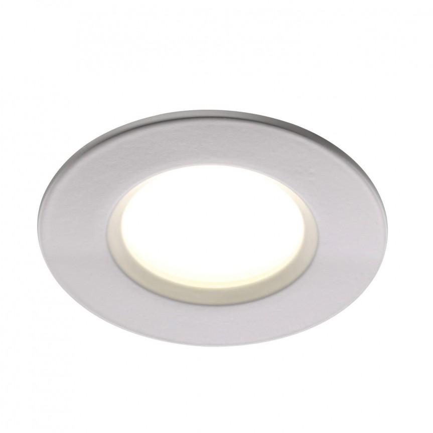 Set de 3 spoturi LED incastrabile pentru baie IP65 Clarkson alb 2700K 47590101 NL, Plafoniere cu protectie pentru baie, Corpuri de iluminat, lustre, aplice, veioze, lampadare, plafoniere. Mobilier si decoratiuni, oglinzi, scaune, fotolii. Oferte speciale iluminat interior si exterior. Livram in toata tara.  a