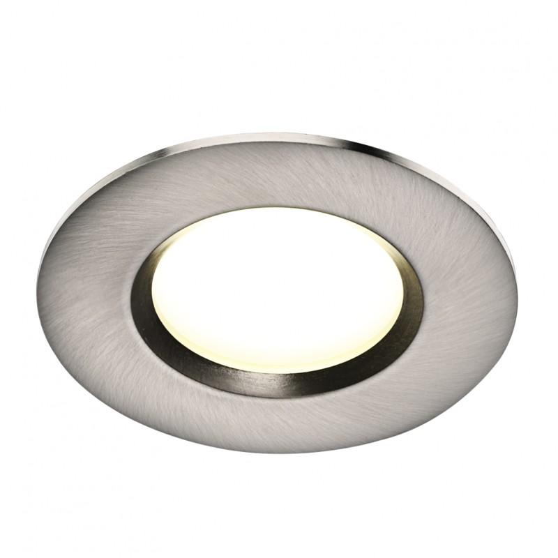 Set de 3 spoturi LED incastrabile pentru baie IP65 Clarkson otel 4000K 47880132 NL, Plafoniere cu protectie pentru baie, Corpuri de iluminat, lustre, aplice, veioze, lampadare, plafoniere. Mobilier si decoratiuni, oglinzi, scaune, fotolii. Oferte speciale iluminat interior si exterior. Livram in toata tara.  a