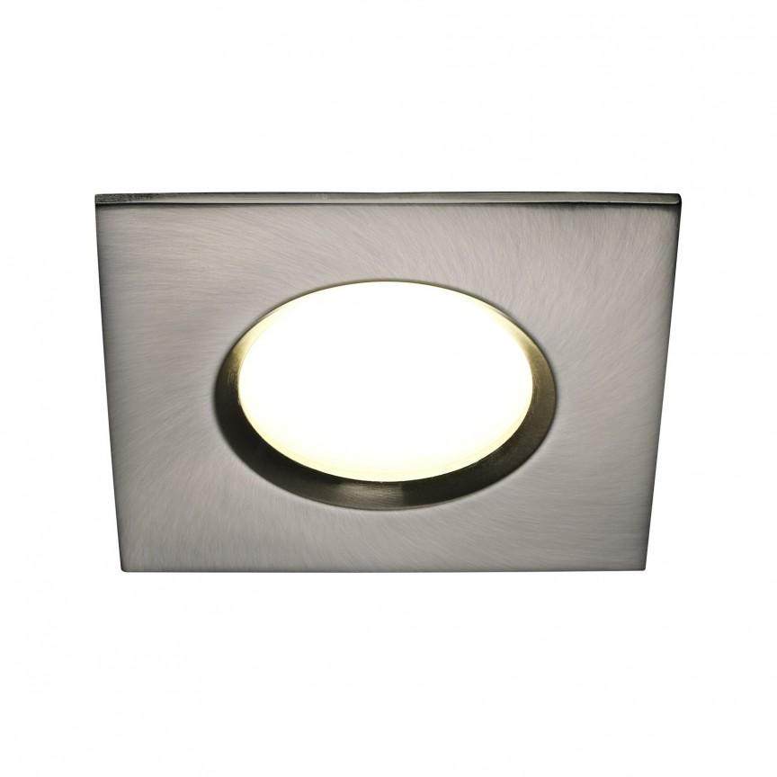 Set de 3 spoturi LED incastrabile pentru baie IP65 Clarkson otel 2700K 47600132 NL, Plafoniere cu protectie pentru baie, Corpuri de iluminat, lustre, aplice, veioze, lampadare, plafoniere. Mobilier si decoratiuni, oglinzi, scaune, fotolii. Oferte speciale iluminat interior si exterior. Livram in toata tara.  a