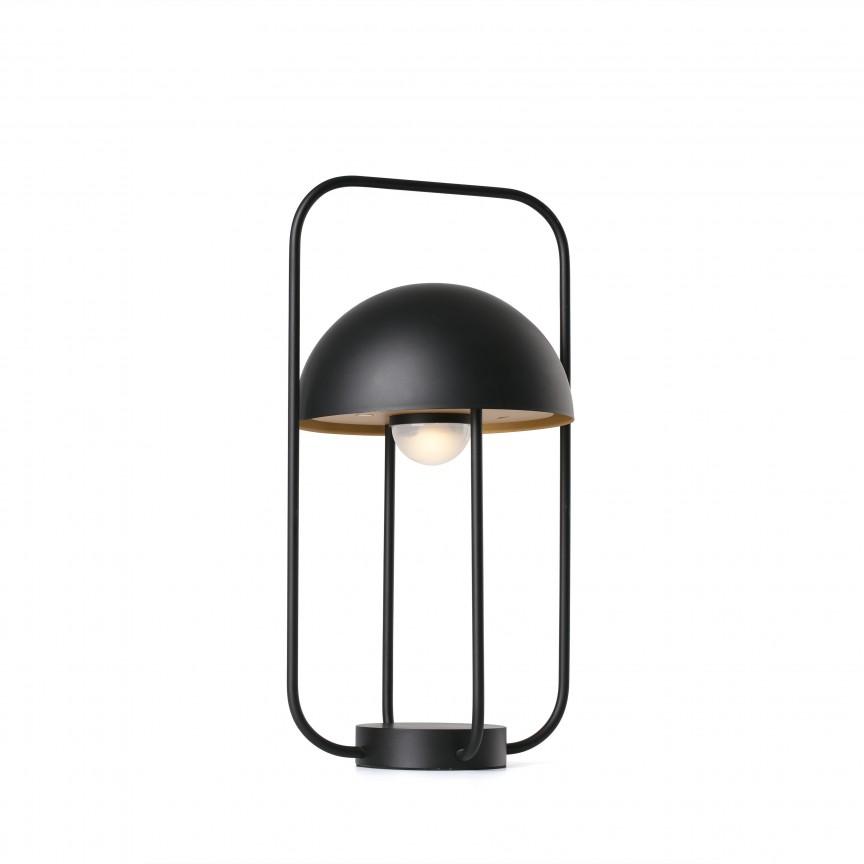 Lampa LED portabila JELLYFISH black / gold 24523, Iluminat design decorativ , Corpuri de iluminat, lustre, aplice, veioze, lampadare, plafoniere. Mobilier si decoratiuni, oglinzi, scaune, fotolii. Oferte speciale iluminat interior si exterior. Livram in toata tara.  a