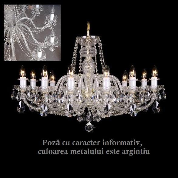 Lustra 12 brate cristal Bohemia L11 009/12/4; F1 Floor Ni, lip., LUSTRE CRISTAL, Corpuri de iluminat, lustre, aplice, veioze, lampadare, plafoniere. Mobilier si decoratiuni, oglinzi, scaune, fotolii. Oferte speciale iluminat interior si exterior. Livram in toata tara.  a
