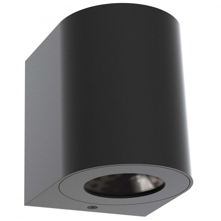 Aplica LED ambientala de exterior IP44 Canto 2 neagra 49701003 NL, Aplice de perete LED, Corpuri de iluminat, lustre, aplice, veioze, lampadare, plafoniere. Mobilier si decoratiuni, oglinzi, scaune, fotolii. Oferte speciale iluminat interior si exterior. Livram in toata tara.  a