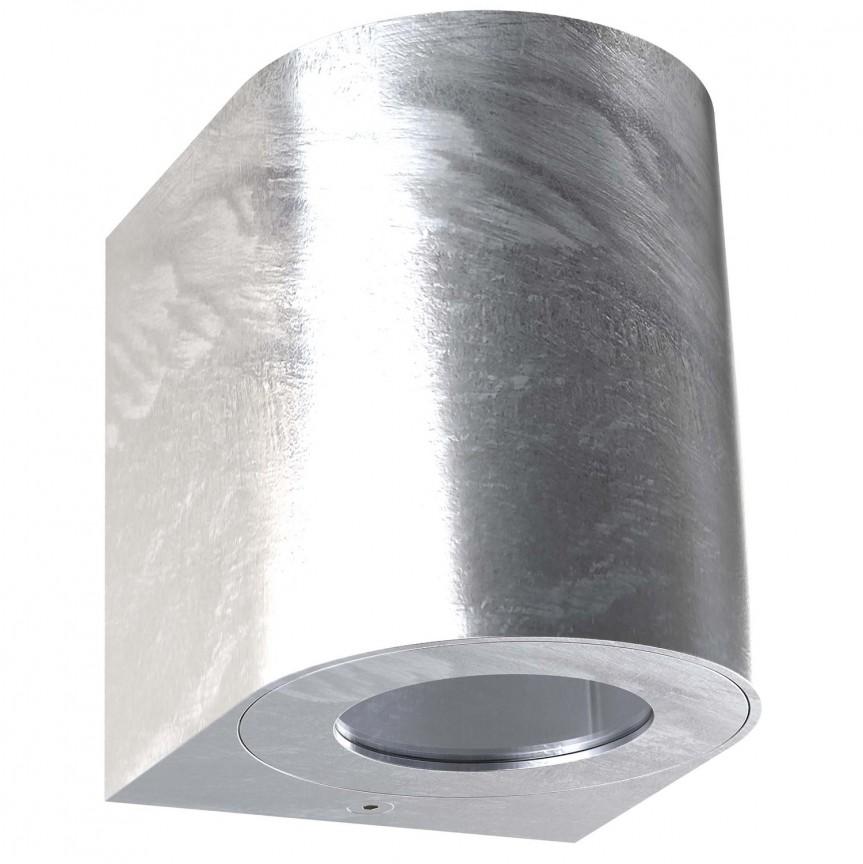 Aplica LED ambientala de exterior IP44 Canto 2 galvanizat 49701031 NL, Aplice de perete LED, Corpuri de iluminat, lustre, aplice, veioze, lampadare, plafoniere. Mobilier si decoratiuni, oglinzi, scaune, fotolii. Oferte speciale iluminat interior si exterior. Livram in toata tara.  a