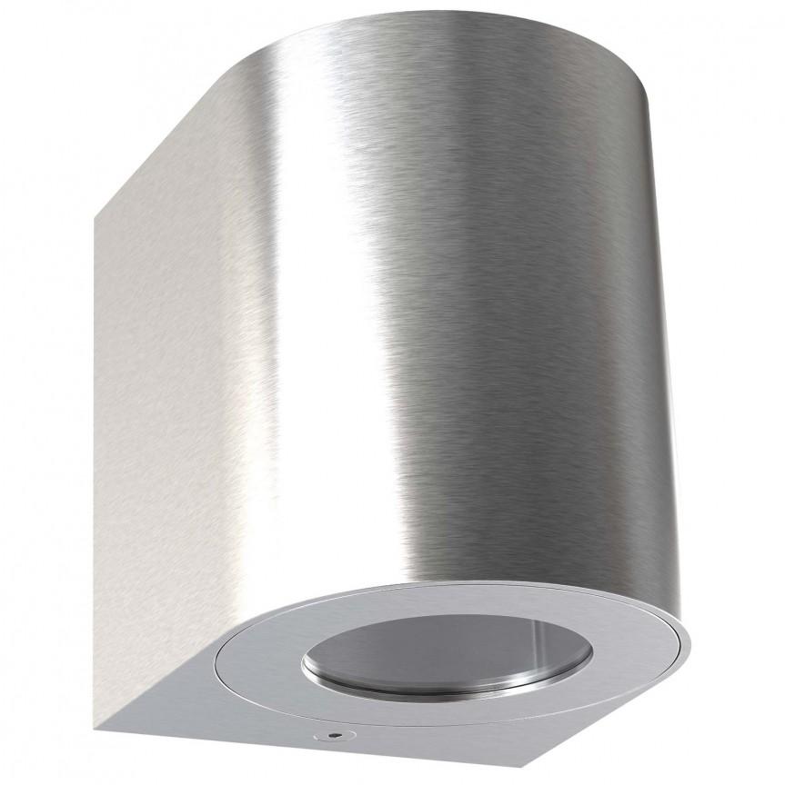 Aplica LED ambientala de exterior IP44 Canto 2 otel 49701034 NL, Aplice de perete LED, Corpuri de iluminat, lustre, aplice, veioze, lampadare, plafoniere. Mobilier si decoratiuni, oglinzi, scaune, fotolii. Oferte speciale iluminat interior si exterior. Livram in toata tara.  a