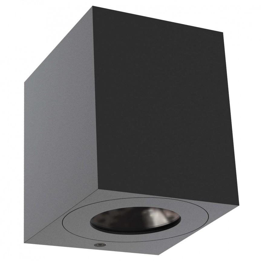 Aplica LED ambientala de exterior IP44 Canto Kubi 2 neagra 49711003 NL, Magazin, Corpuri de iluminat, lustre, aplice, veioze, lampadare, plafoniere. Mobilier si decoratiuni, oglinzi, scaune, fotolii. Oferte speciale iluminat interior si exterior. Livram in toata tara.  a