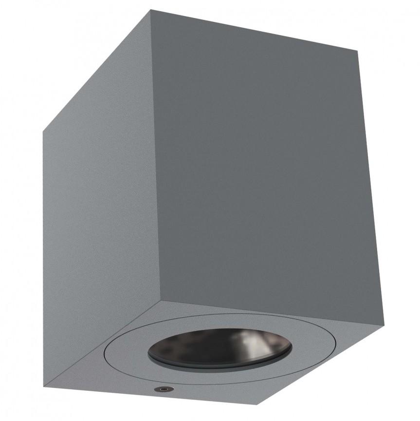 Aplica LED ambientala de exterior IP44 Canto Kubi 2 gri 49711010 NL, Magazin, Corpuri de iluminat, lustre, aplice, veioze, lampadare, plafoniere. Mobilier si decoratiuni, oglinzi, scaune, fotolii. Oferte speciale iluminat interior si exterior. Livram in toata tara.  a