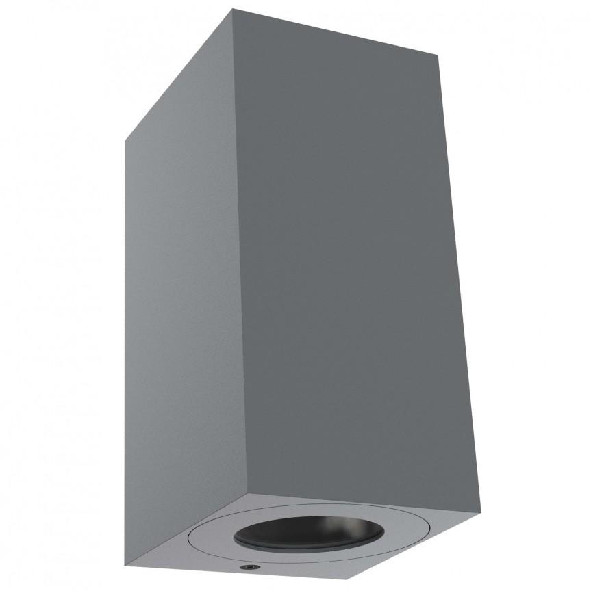 Aplica perete ambientala de exterior IP44 Canto Maxi Kubi 2 gri 49731010 NL,  a