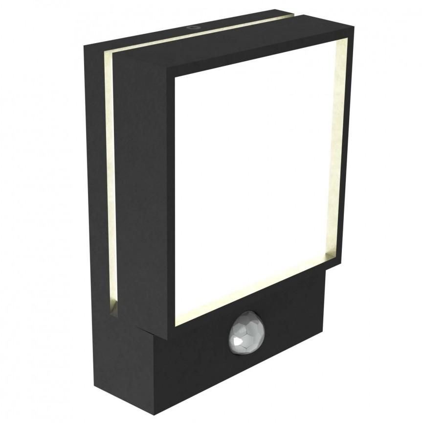 Aplica LED exterior cu senzor de miscare Egon 49061003 NL, Iluminat cu senzor de miscare,  a