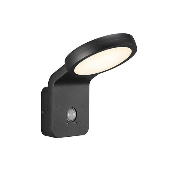 Aplica LED exterior cu senzor de miscare Marina Flatline neagra 46831003 NL, Iluminat cu senzor de miscare,  a