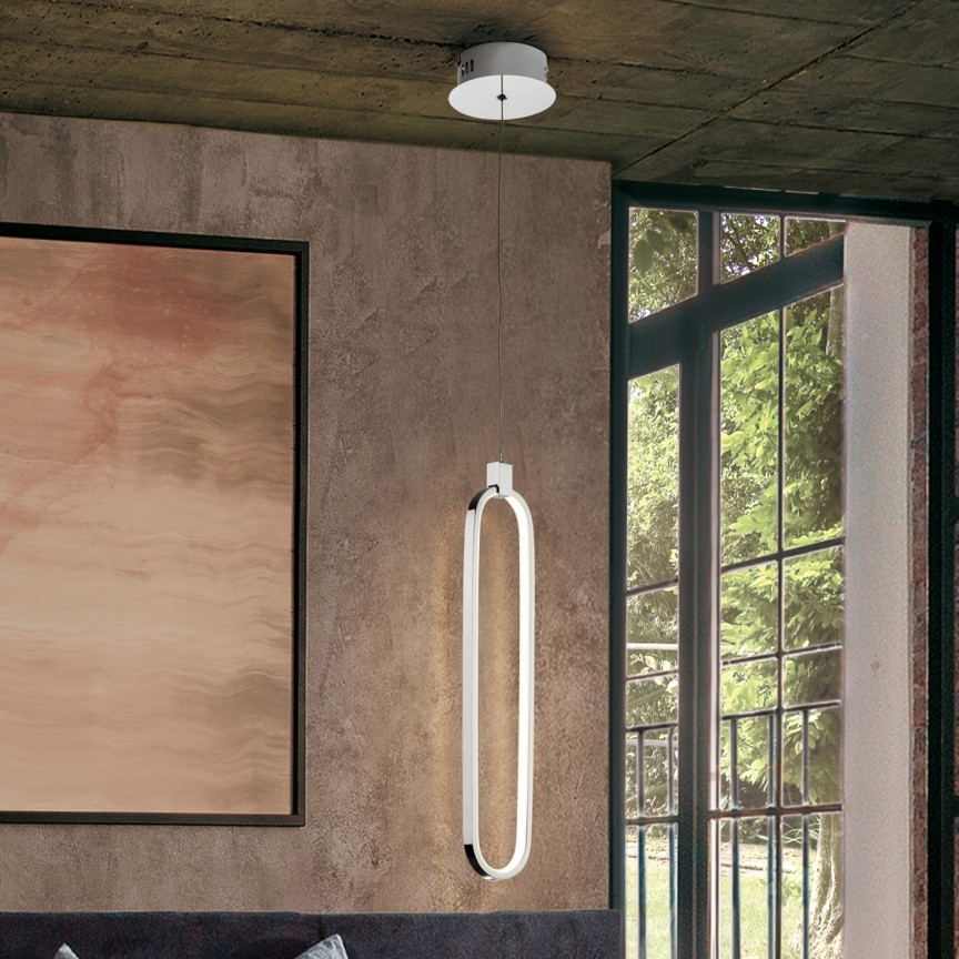 Pendul LED design ultra-modern Colette. crom SV-787147, Cele mai vandute Corpuri de iluminat, lustre, aplice, veioze, lampadare, plafoniere. Mobilier si decoratiuni, oglinzi, scaune, fotolii. Oferte speciale iluminat interior si exterior. Livram in toata tara.  a