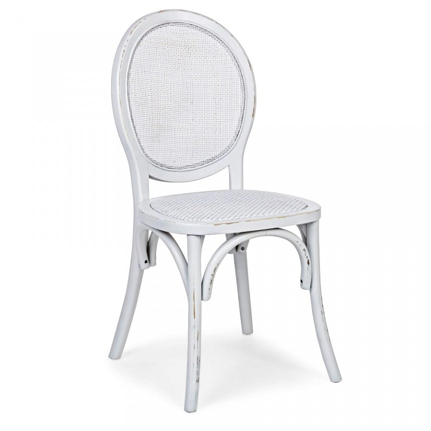 Scaun din lemn finisaj alb design vintage GLOBO 0743662 BZ, Scaune dining , Corpuri de iluminat, lustre, aplice, veioze, lampadare, plafoniere. Mobilier si decoratiuni, oglinzi, scaune, fotolii. Oferte speciale iluminat interior si exterior. Livram in toata tara.  a