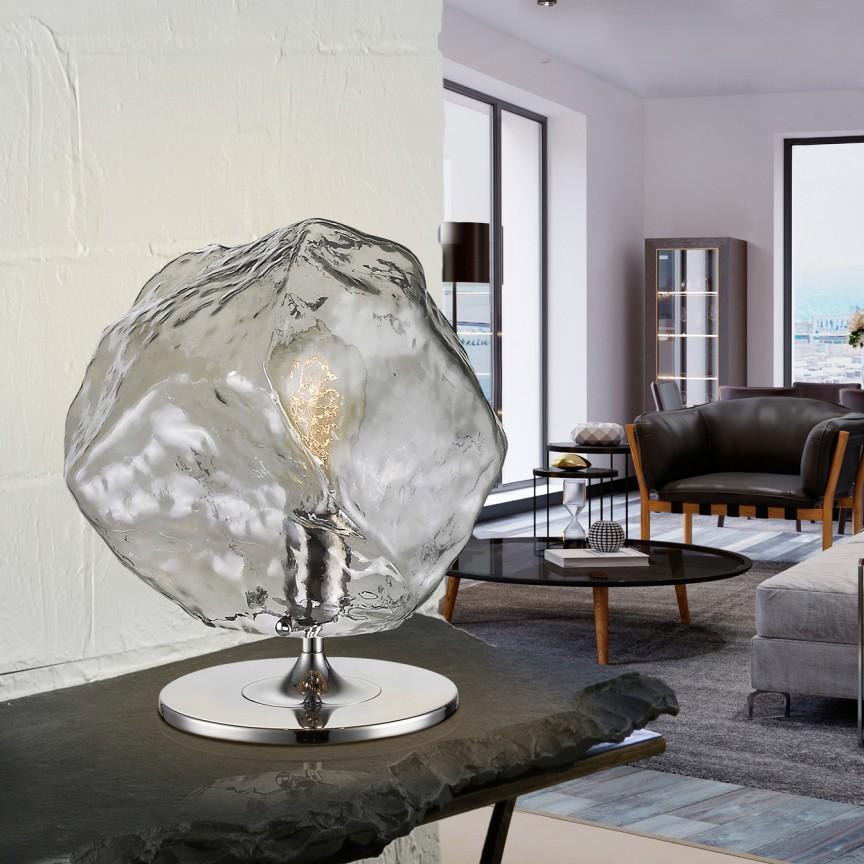 Lampa de masa design modern Petra SV-213547, Veioze, Lampi de masa, Corpuri de iluminat, lustre, aplice, veioze, lampadare, plafoniere. Mobilier si decoratiuni, oglinzi, scaune, fotolii. Oferte speciale iluminat interior si exterior. Livram in toata tara.  a