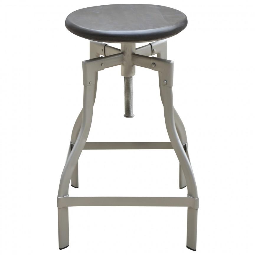 Set de 2 scaune cu inaltime reglabila Iron Craft 60-74cm, mango gri A-39456 VC, Scaune de bar, Corpuri de iluminat, lustre, aplice, veioze, lampadare, plafoniere. Mobilier si decoratiuni, oglinzi, scaune, fotolii. Oferte speciale iluminat interior si exterior. Livram in toata tara.  a