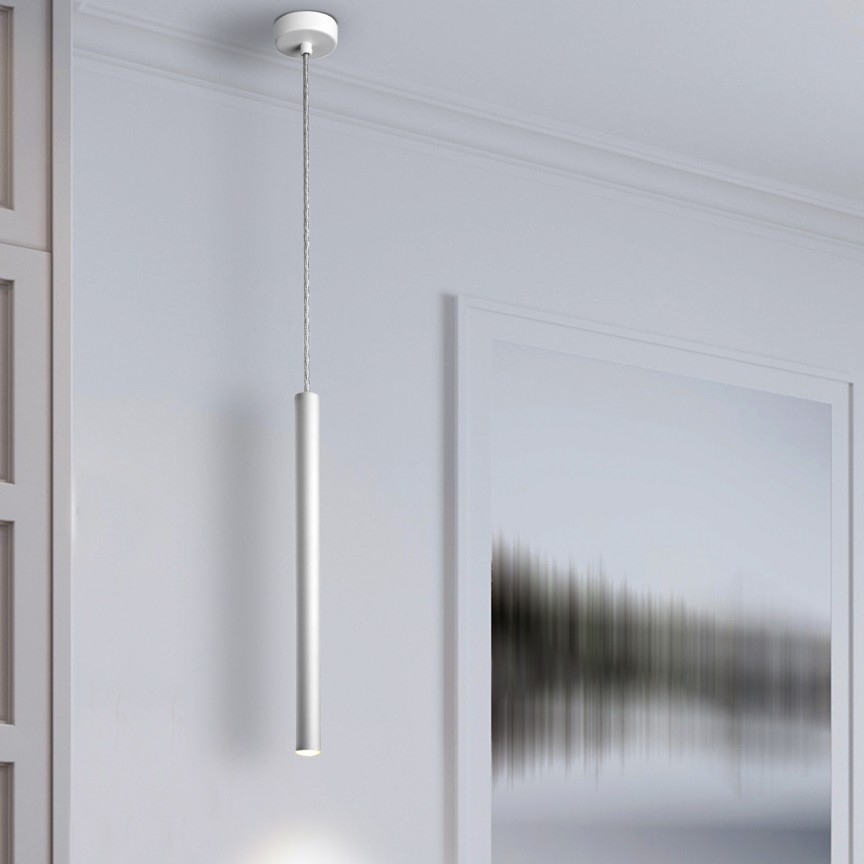 Pendul LED dimabil design modern minimalist Varas alb SV-373075, Lustre LED, Pendule LED, Corpuri de iluminat, lustre, aplice, veioze, lampadare, plafoniere. Mobilier si decoratiuni, oglinzi, scaune, fotolii. Oferte speciale iluminat interior si exterior. Livram in toata tara.  a